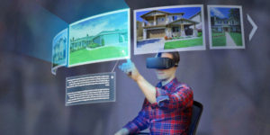 Virtual reality real estate illustration