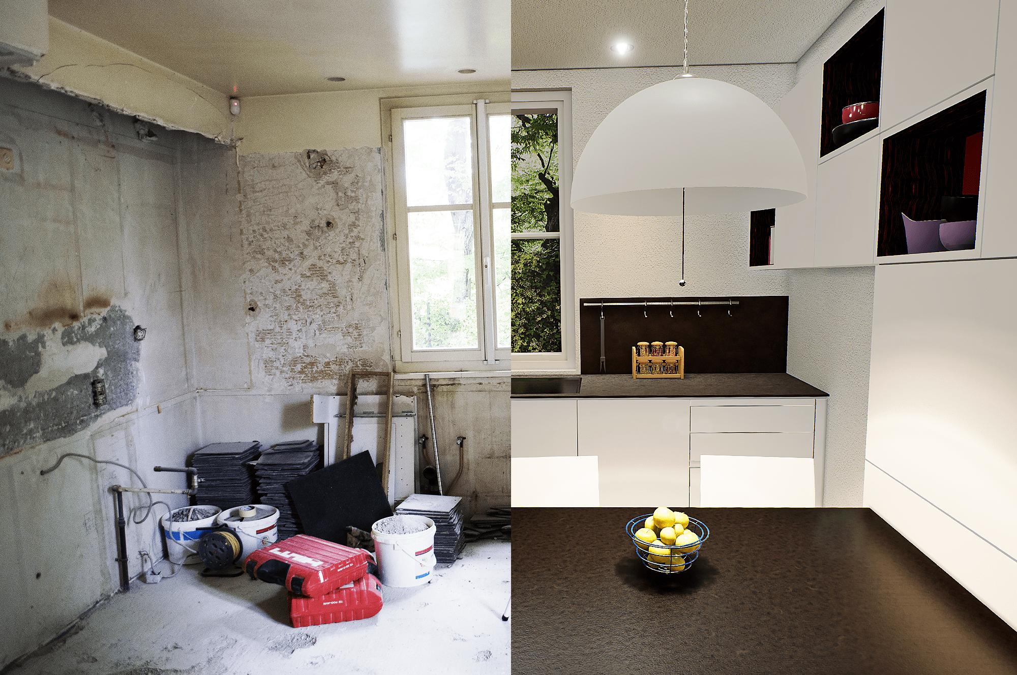 3D modeling - Before / after kitchen renovation