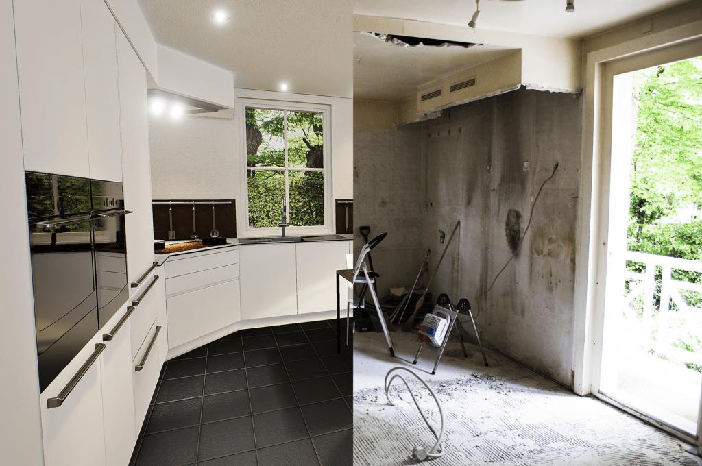 Modélisation 3D - Avant/après rénovation cuisine