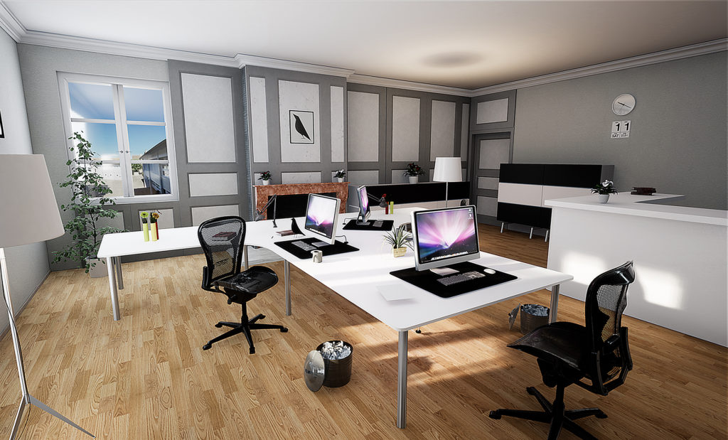 Modélisation 3D - Rendu 3D - Promotion immobilière - Rénovation bureau greffe municipal Préverenges