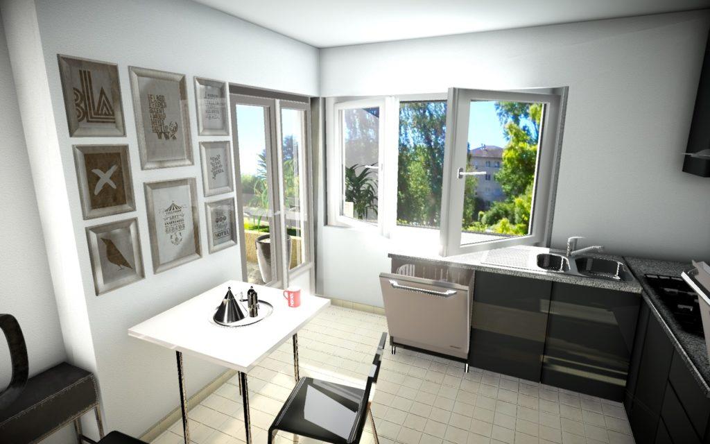 Modélisation 3D - Rendu 3D - Promotion immobilière - Projet immobilier Ecublens - Cuisine