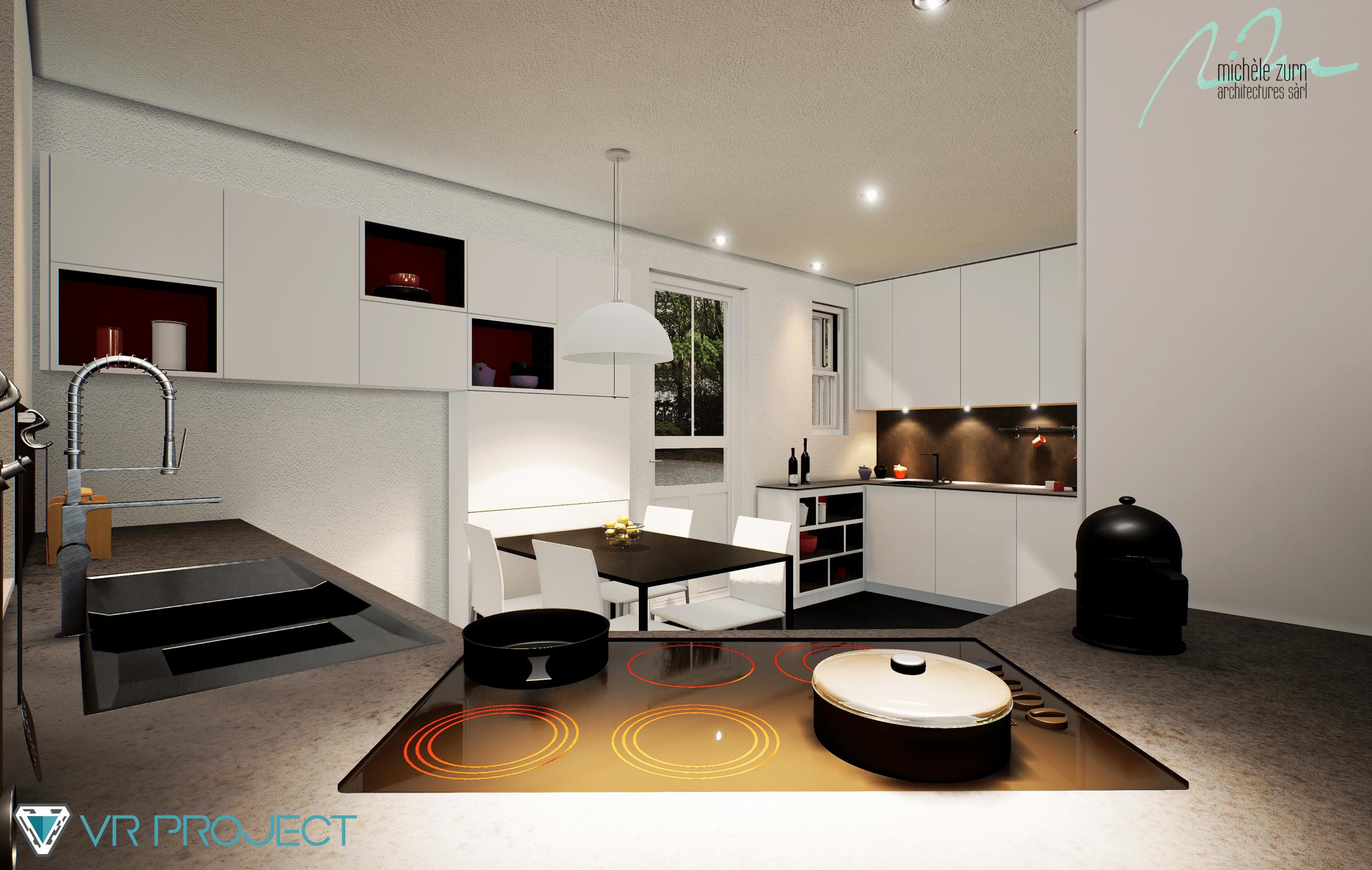 3D modeling - Kitchen renovation rendering