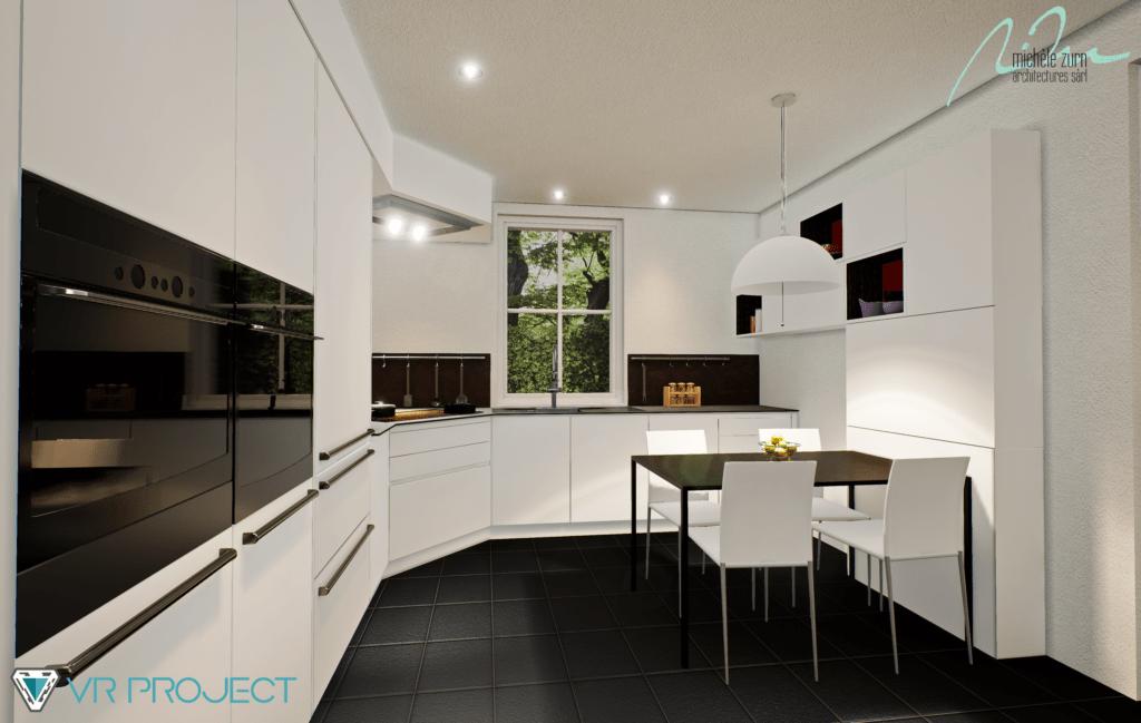 Modélisation 3D - Rendu rénovation cuisine