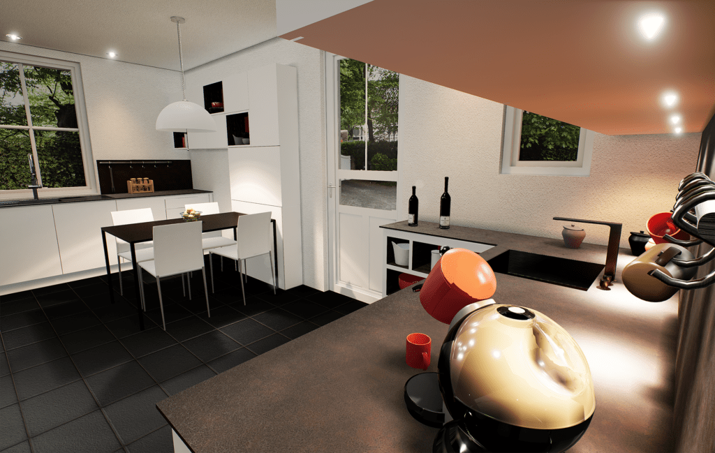 Modélisation 3D - Rendu rénovation cuisine 7 - Unreal Engine