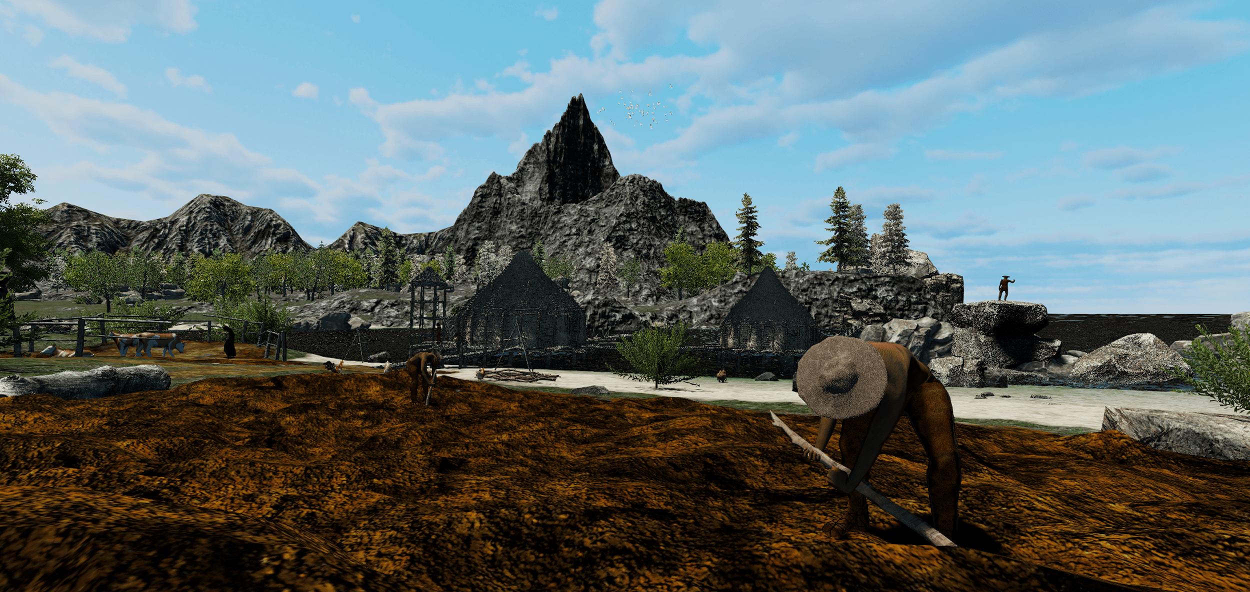 3D modeling - Prehistoric world - The Neolithic