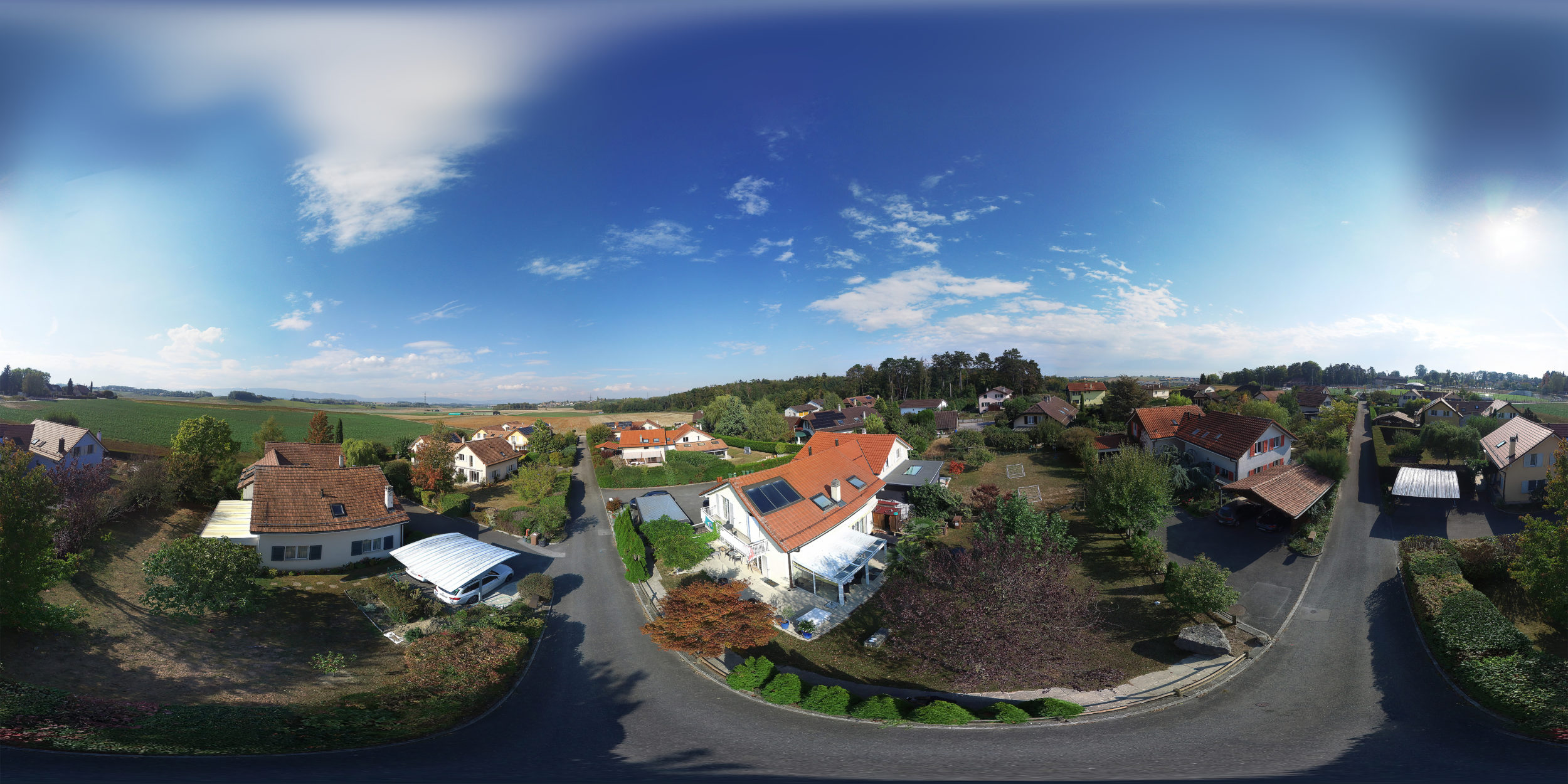 Aerial panorama - Drone - Real estate in Lonay , Switzerland