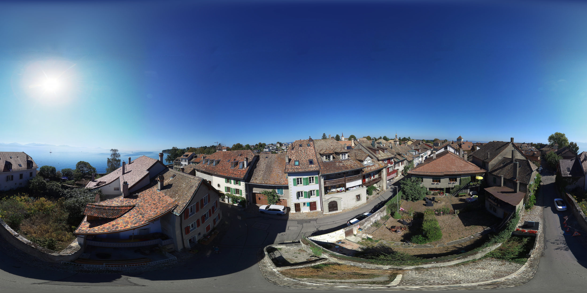 Aerial panorama - Drone - Real estate in St-Prex