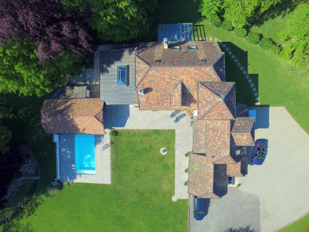 Vue aérienne - Drone - Villa à Denens