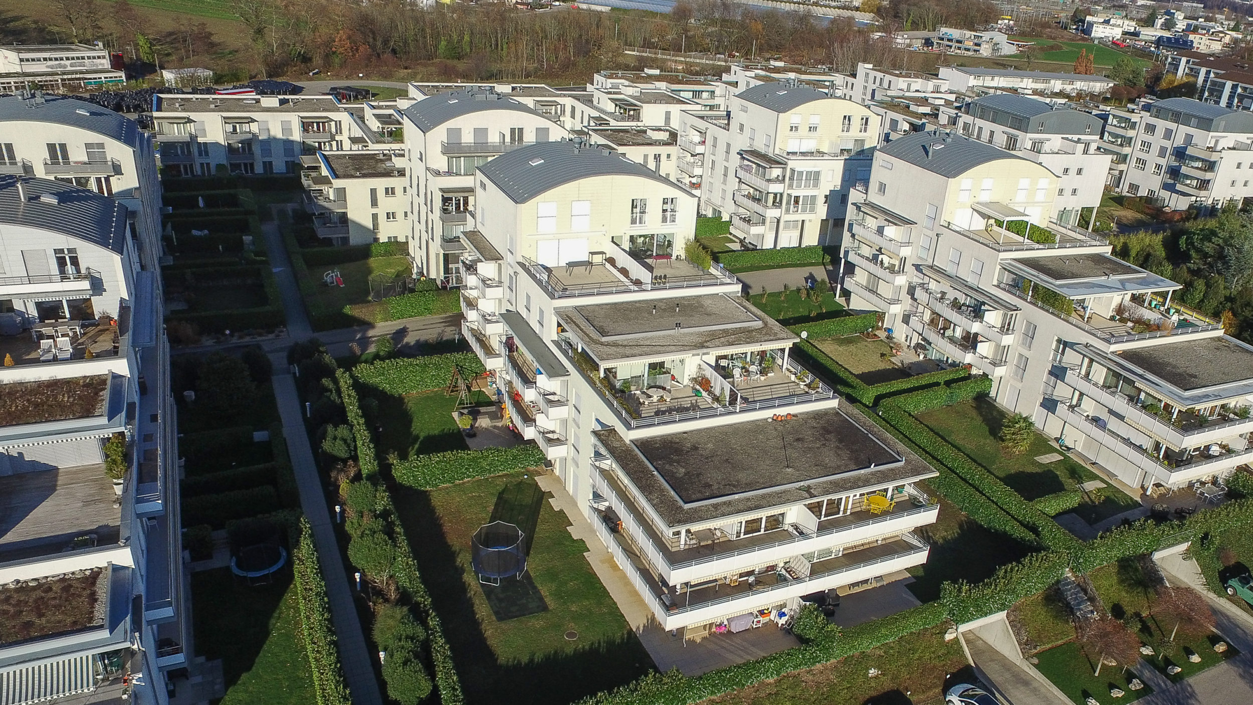 Aerial photo - Drone - Real estate in Pully
