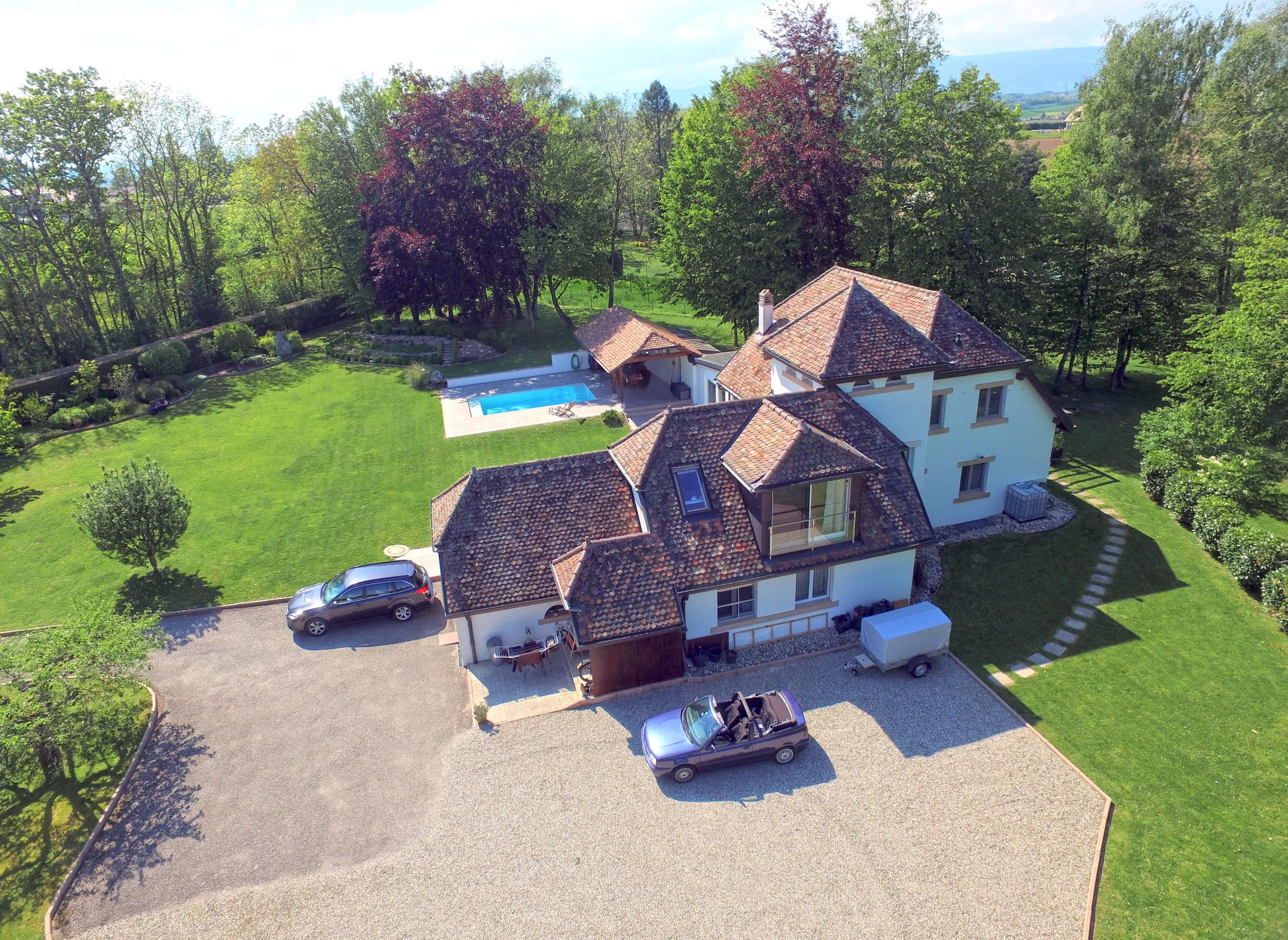 Aerial view - Drone - Villa in Denens