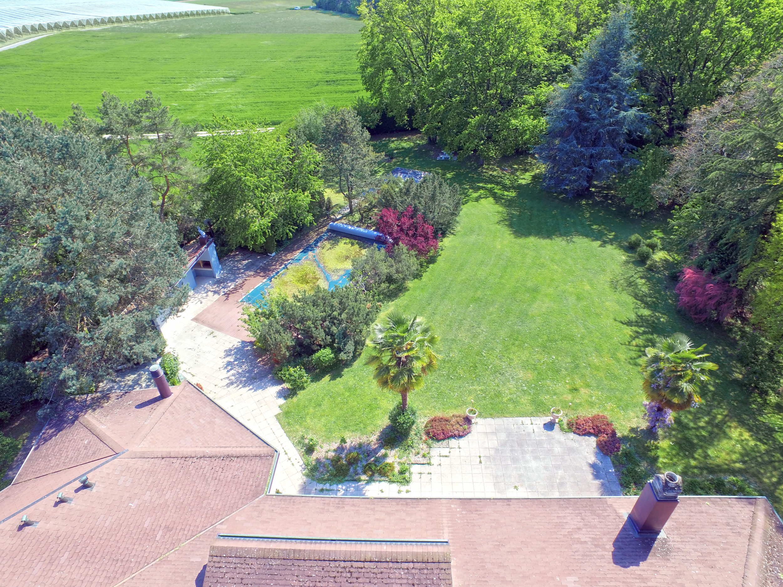 Aerial photo - Drone - Real estate in Lussy-Sur-Morges