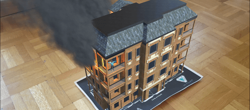 """Augmented reality - Game """"Fire Rescue"""""""