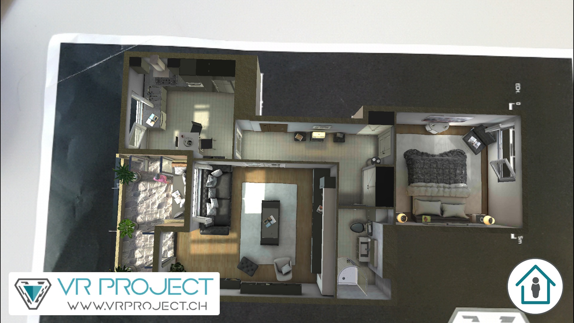Augmented reality on construction plan