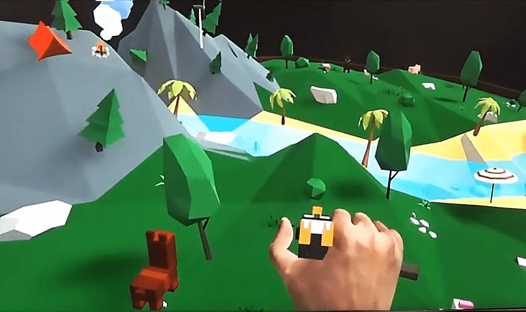 Réalité virtuelle - Jeu LamaSlam - Illustration