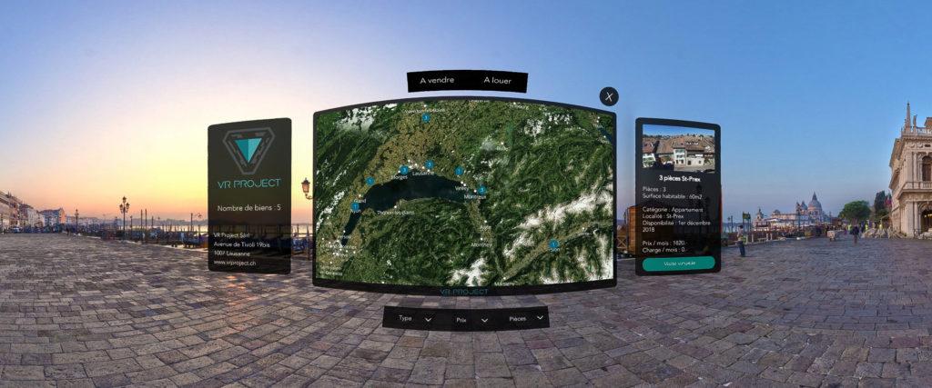 Réalité virtuelle - Plateforme Vision - Illustration