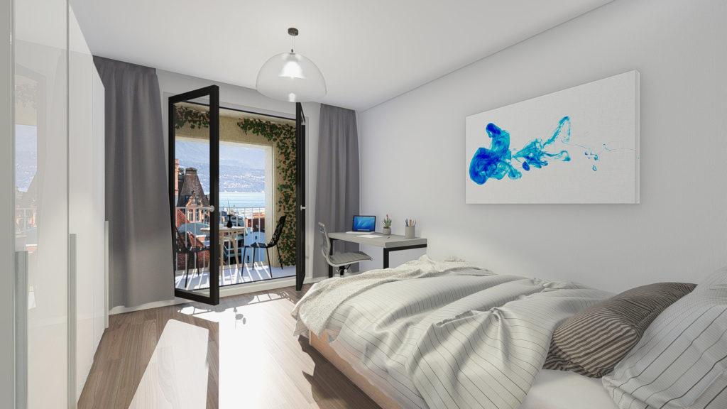3D renderings - Bedroom