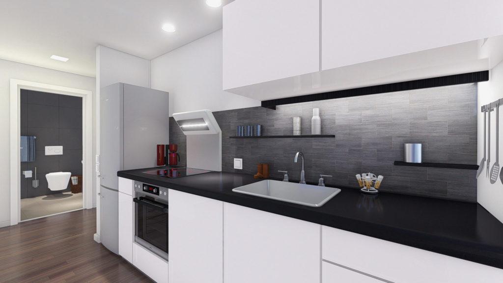 3D renderings - Kitchen