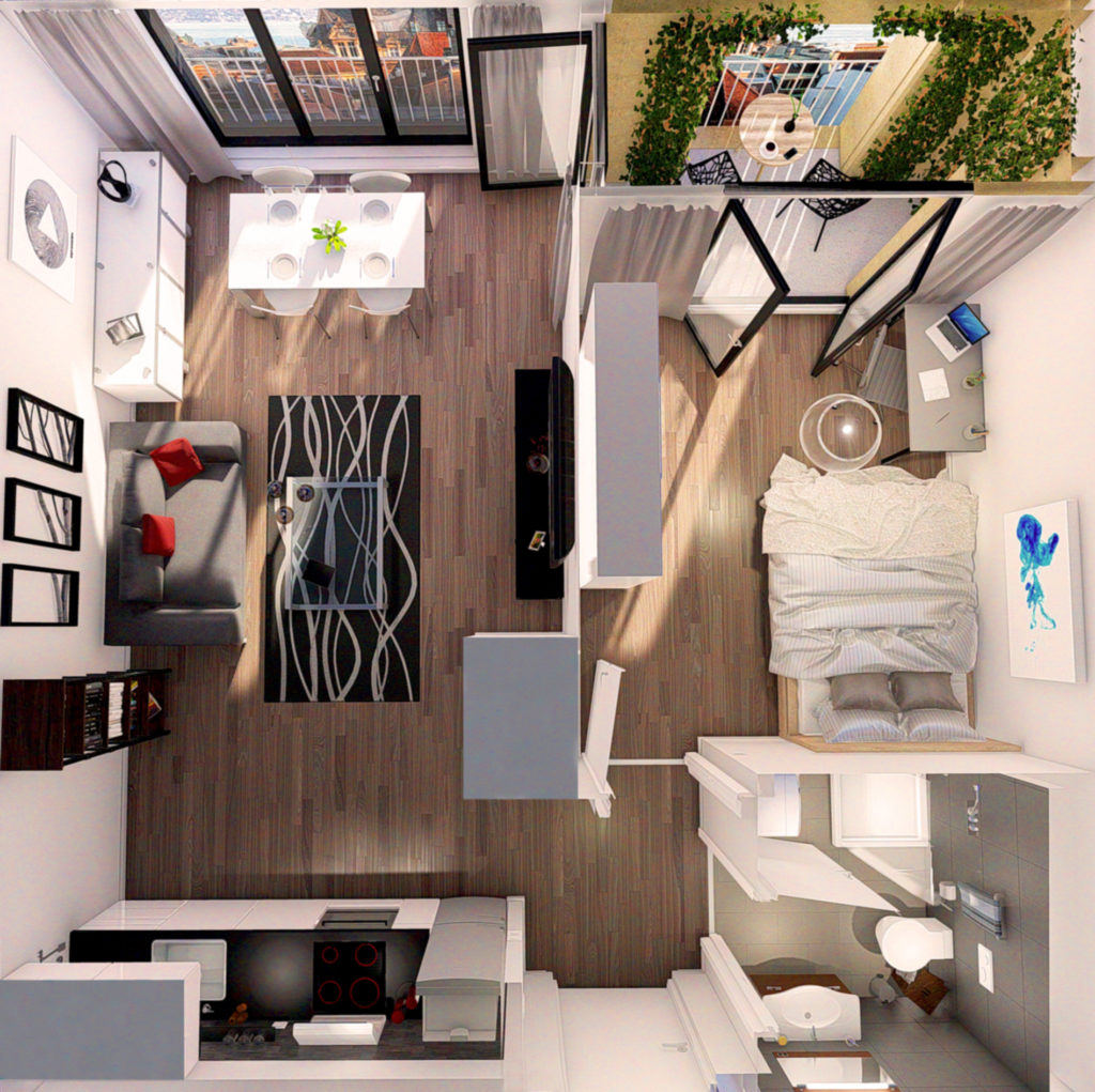 3D renderings - Plans