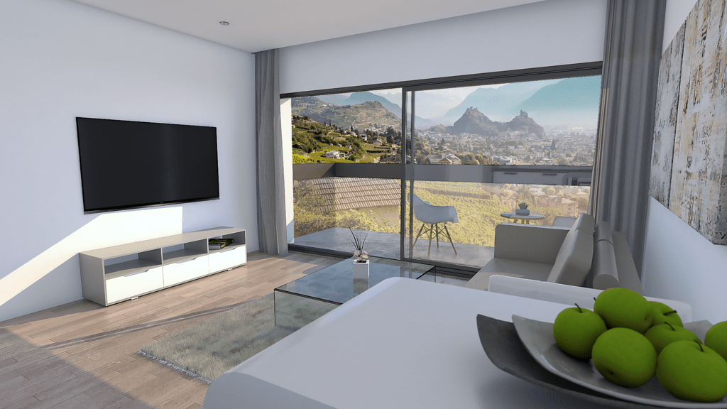 3D rendering - Living room
