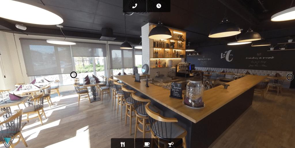Virtual tour - Restaurant Le No 6 - Vevey